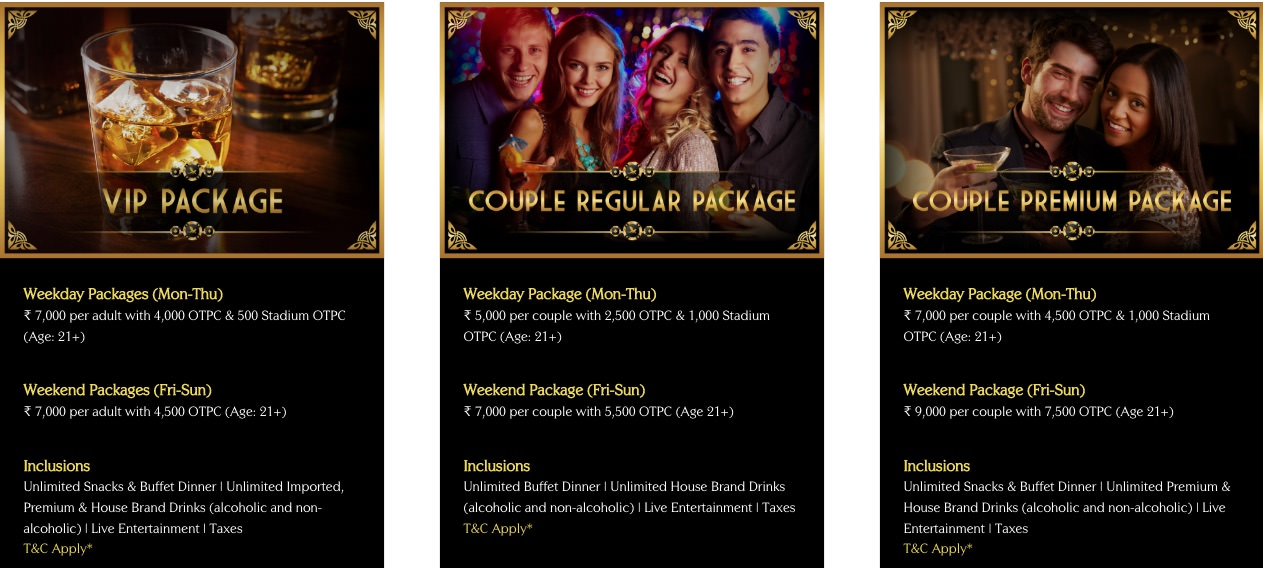 Big Daddy Casino Packages