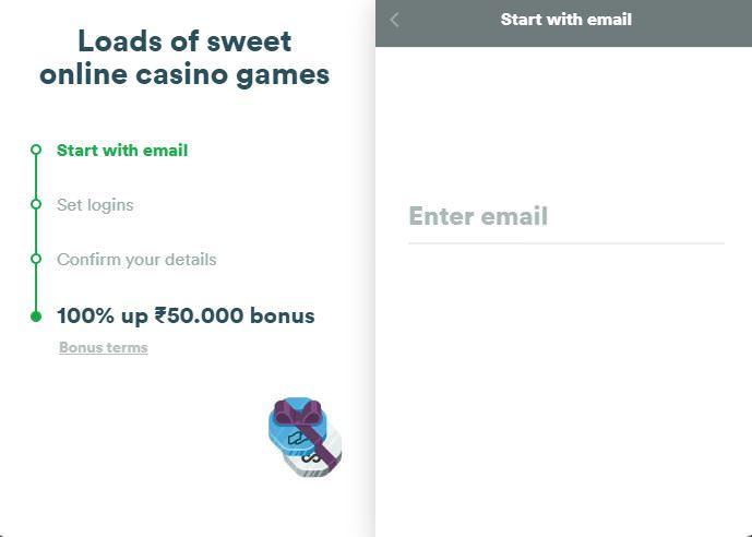 Create casino Account