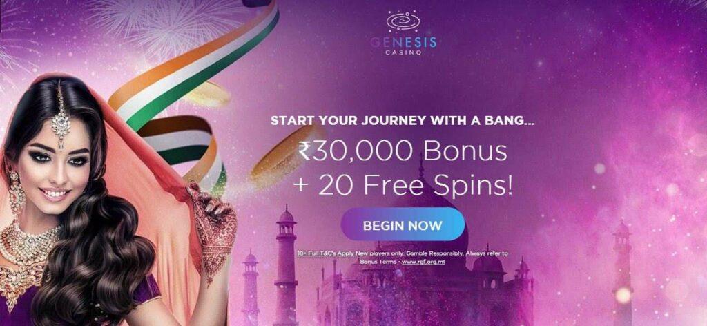 genesis free spins