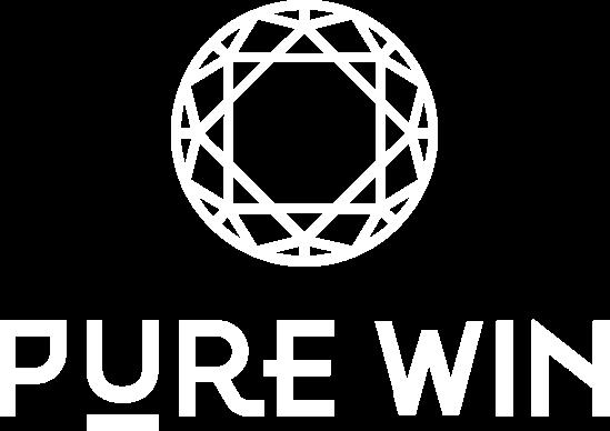 pure win white logo
